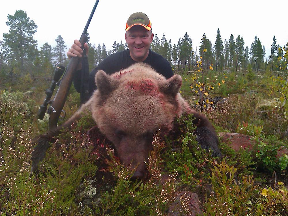 Bjørnen er skutt